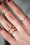 CZ Rose Gold V Midi Ring from kellinsilver.com