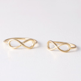 Gold Infinity Midi Rings Set of 2 from kellinsilver.com