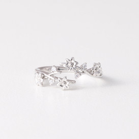 CZ Blossom Wrap Around Ring White Gold from kellinsilver.com