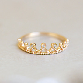 Crown Tiara Ring Rose Gold from kellinsilver.com