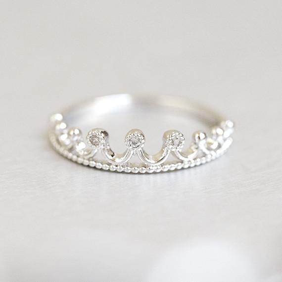 crown tiara ring white gold kellinsilver