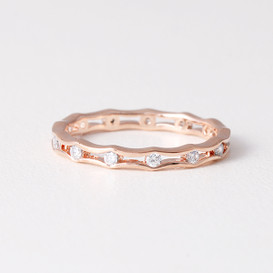 Edge Eternity Ring Rose Gold from kellinsilver.com