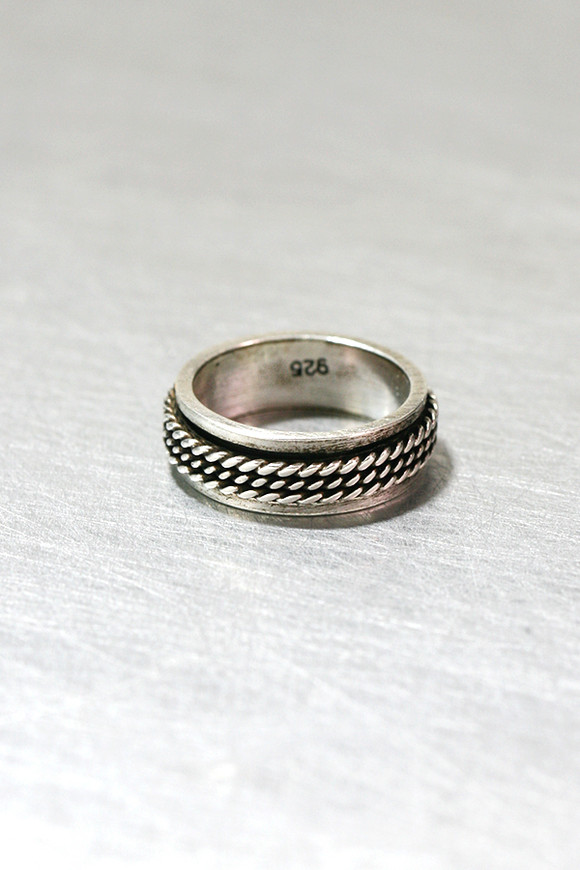 Oxidized Sterling Silver Moving Woven Ring from kellinsilver.com