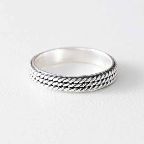 Oxidized Sterling Silver Triple Woven Ring from kellinsilver.com