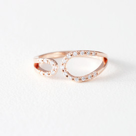 CZ Circle Embrace Midi Ring Wrap Rose Gold from kellinsilver.com