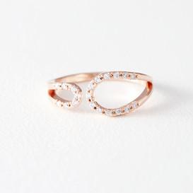 CZ Circle Embrace Midi Ring Wrap Rose Gold from kellinsilver.com