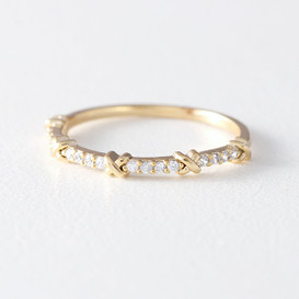 CZ Thin Infinity Knot Ring Gold from kellinsilver.com