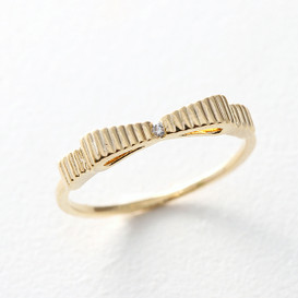 CZ Simple Bow Ring Gold from kellinsilver.com