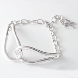 Sterling Silver Infinity Knot Bracelet White Gold from kellinsilver.com