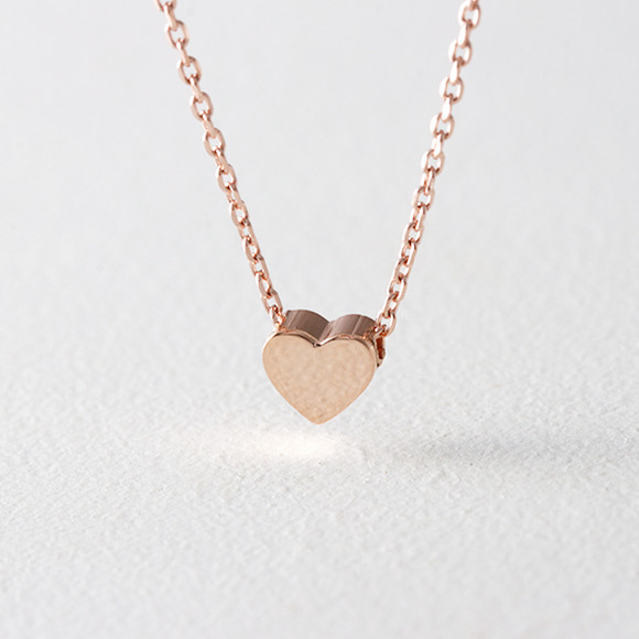 Rose Gold Heart Necklace Sterling Silver from kellinsilver.com