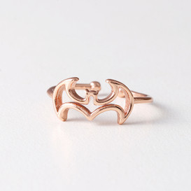 Rose Gold Bat Ring Wrap from kellinsilver.com