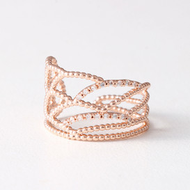 CZ Milgrain Feather Wrap Ring from kellinsilver.com