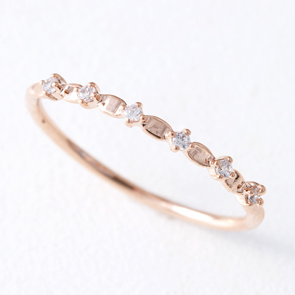 CZ Twinkle Bridge Ring Rose Gold from kellinsilver.com