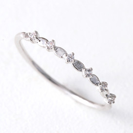 CZ Twinkle Bridge Ring White Gold from kellinsilver.com