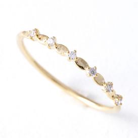 CZ Twinkle Bridge Ring Gold from kellinsilver.com
