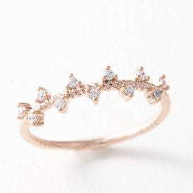 CZ Fancy Ring Rose Gold from kellinsilver.com