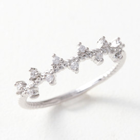 CZ Fancy Ring White Gold from kellinsilver.com
