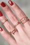Rose Gold Kiss Me Midi Ring Set of 2 from kellinsilver.com