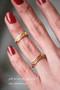 Gold Kiss Me Midi Ring Set of 2 from kellinsilver.com