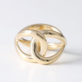 Bold Infinity Knot Ring Gold from kellinsilver.com