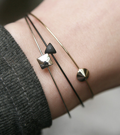 Three Color Figure Cuff Bracelet Set of 3 from kellinsilver.com