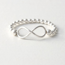 Sterling Silver Ball Infinity Ring from kellinsilver.com