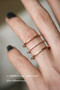 CZ Triple Spacer Ring Wrap Rose Gold from kellinsilver.com