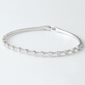 Swarovski Delicate Bangle White Gold from kellinsilver.com
