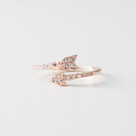 CZ Rose Gold Arrow Wrap Ring from kellinsilver.com