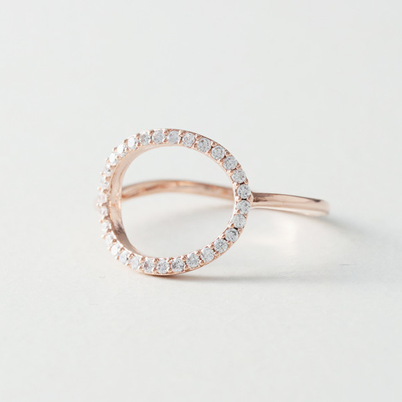 Swarovski Elegant Ellipse Ring Rose Gold from kellinsilver.com