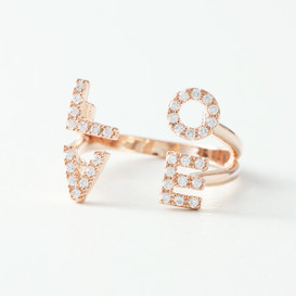 Swarovski Pave Love Cuff Ring from kellinsilver.com