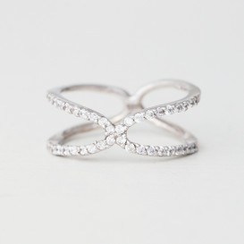 CZ Sterling Silver Promise Ring For Her from kellinsilver.com