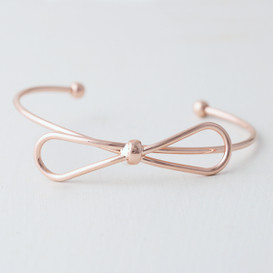 Rose Gold Bow Cuff Bracelet from kellinsilver.com