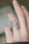CZ White Gold Vine Ring Wrapfrom Kellinsilver.com