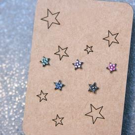 Swarovksi Twinkle Tiny Five Star Stud Earrings Pack  from kellinsilver.com