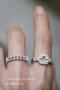 CZ Elegant Bridal Ring White Gold from kellinsilver.com