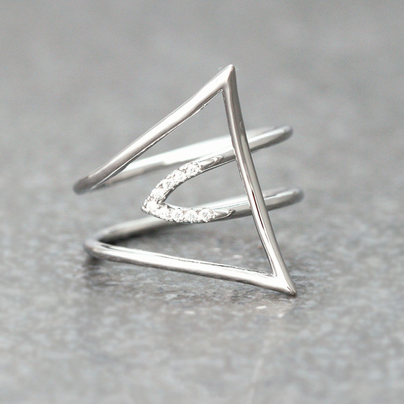 CZ I Pick You Ring White Gold from kellinsilver.com