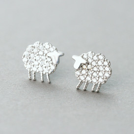 Micro Pave Swarovski Tiny Sheer Stud Earrings from kellinsilver.com