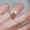 Shell Pearl Charm CZ Rose Safety Pin Ring Sterling Silver from kellinsilver.com