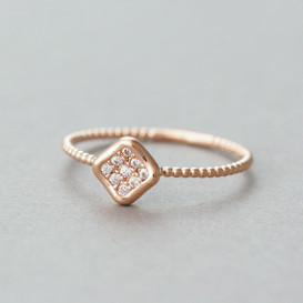 CZ Rose Gold Nugget Ring from kellinsilver.com