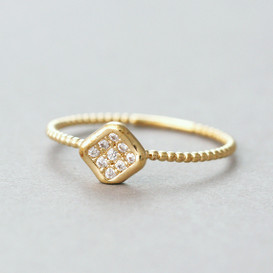 CZ Gold Nugget Ring from kellinsilver.com