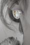 Hologram Swarovski Triangle Black Edge Costume Earrings from kellinsilver.com