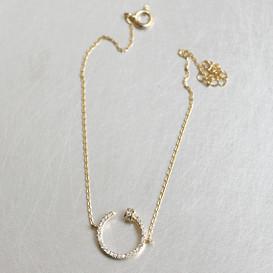 CZ Gold Nail Bracelet Sterling Silver from kellinsilver.com