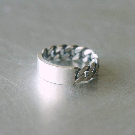 Sterling Silver ID Woven Ring from kellinsilver.com