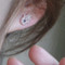 Sterling Silver Sapphire Blue Hamsa Stud Earrings Rose God from kellinsilver.com