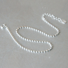 Sterling Silver Circle Chain Anklet from kellinsilver.com
