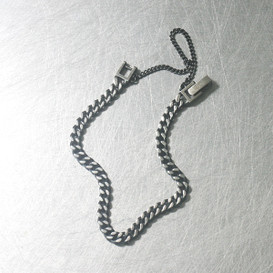 Oxidized Sterling Silver 4mm Chain Bracelet from kellinsilver.com