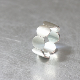 Matte Disc Eternity Band Ring Sterling Silver from kellinsilver.com