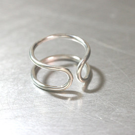 Sterling Silver Destiny Infinity Cuff Ring from kellinsilver.com