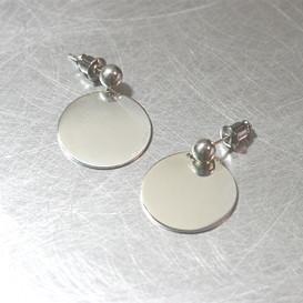 Disc Dangle Earrings Sterling Silver from kellinsilver.com